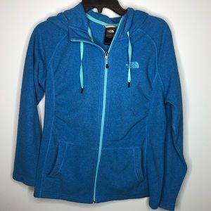 North Face Full Zip Hooded Fleece Jacket Size LG